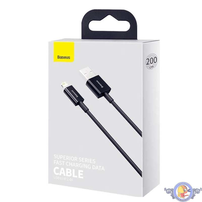 Baseus Lightning Superior Series cable, Fast Charging, Data 2.4A, 2m Black ( CALYS-C01)