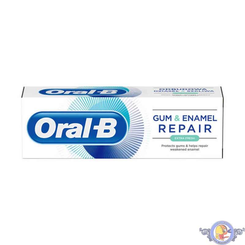 خمیر دندان اورال بی Gum & Enamel Repair مدل EXTRA FRESH