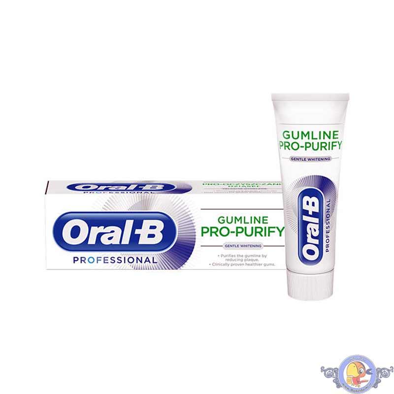 خمیر دندان اورال-بی GUMLINE PRO-PURIFY مدل GENTLE WHITENING
